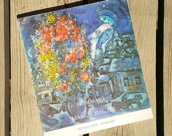 """Book """"Tribute to Marc Chagall"""" Fondation Maeght 1967 vintage"""