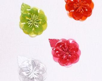 6 flowers to apply 60mm, polyurethane (9756)