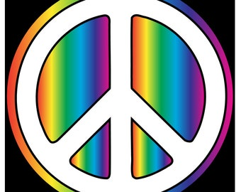 Peace Sign # 11 - 8 x 10 - T Shirt Iron On Transfer