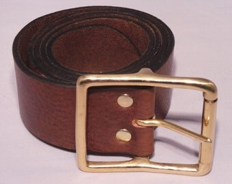 For Sale 2 Inch Leather Jean Belt handmade from Italian Full Grain Leather Hide - Black Brown Tan Red White and many more available