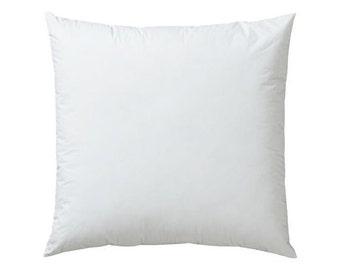 14 X 14 Pillow Insert , Cotton Cover, 100% Premium Polyester Fiberfill, Firm Pillow Form with Zipper