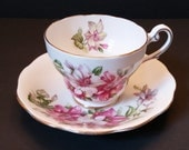 Royal Standard-Romona- Floral Tea Cup Set with Gold Trim Made in England