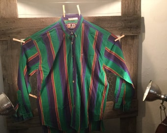 Mens Vintage Casual Basics Button Down Shirt