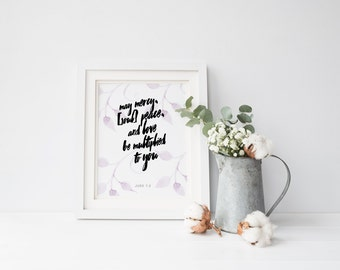 Jude 1:2 Print, Printable Quote, Typography, Poster, Instant Download