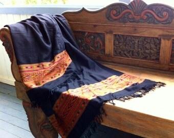 Pure Wool, Handwoven Shawl