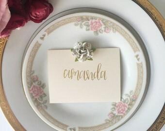 Wedding calligraphy place cards, modern calligraphy, wedding decor