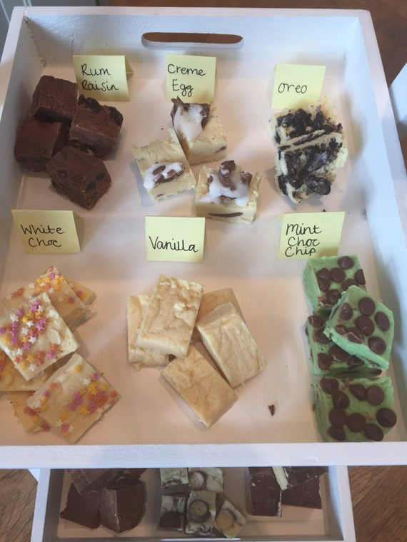Delicious homemade fudge- various flavours available limited edition Halloween flavours also available