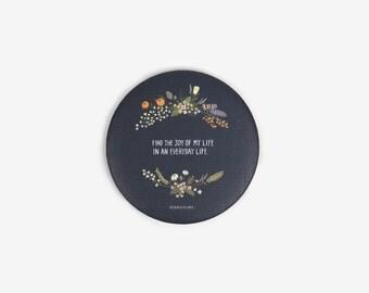 Mini Pocket Mirror : Flower Navy - Dailylike Canada