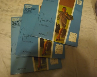 Vintage lot of three packages of unopened Service weigh support hose for one price