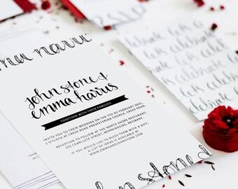 Wedding Invitation // Just my Type