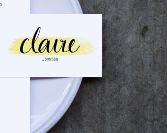 Reception Place Cards // Young Love