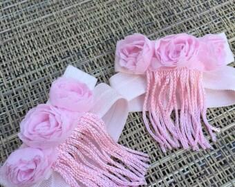 Light Pink Fringe Barefoot Sandals, Pink Baby Girl Barefoot Sandals, Pink Barefoot Sandals, Baby Girl Barefoot Sandals, Pink Baby Sandals
