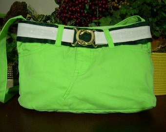 Green Denim Handbag 03