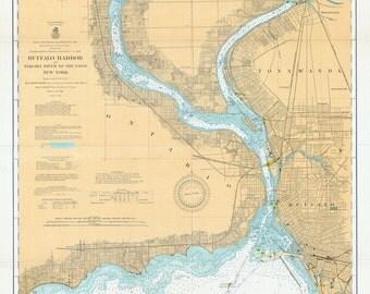 1910 Nautical Map of Niagara River New York