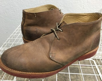 walk over chukka boots leather made in usa mens size 10.5