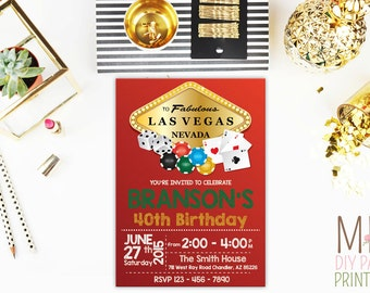 Casino Invitation 5,Casino Invitation. Casino Birthday Invitation, Casino Party, Poker party,Vegas Invite,Vegas Theme, Adult Birthday