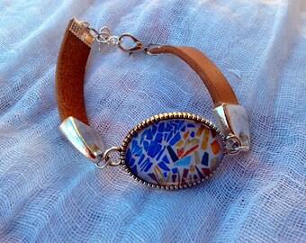 Leather Bracelet collection TRENCADÍS - BTR01
