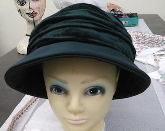 Bottle-Green Velvet Hat