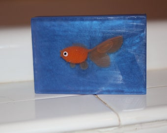 Kids fishy bathtime toy soap