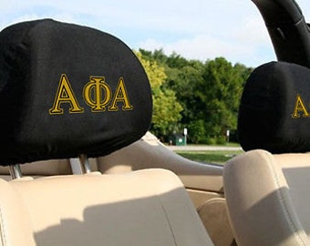 Alpha Phi Alpha Auto SUV Head Rest Covers