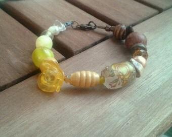 Yellow. Bracelet.