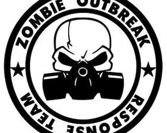 Zombie Outbreak Response Team - Vinyl Decal Wall Art
