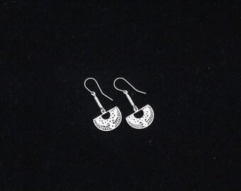 Silver peruvian earings