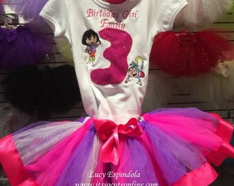 Dora Birthday Tutu Set