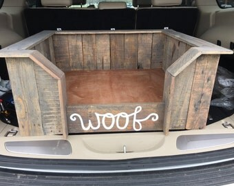 Handcrafted Upcycled Wood Dog Bed (Pallet Dog Bed, Rustic Dog Bed, Wooden Dog Bed)