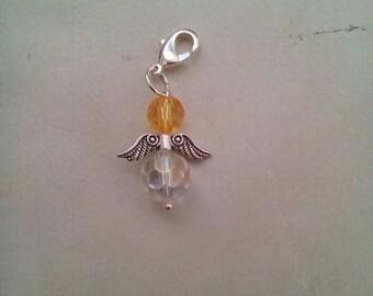 Angel zipper charm