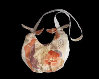 Vintage obi soft silk shoulder bag