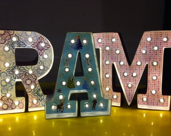 Customized Marquee Letter without Crayons