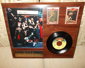 KISS, vintage hand made plaque, FREE SHIPPING!!
