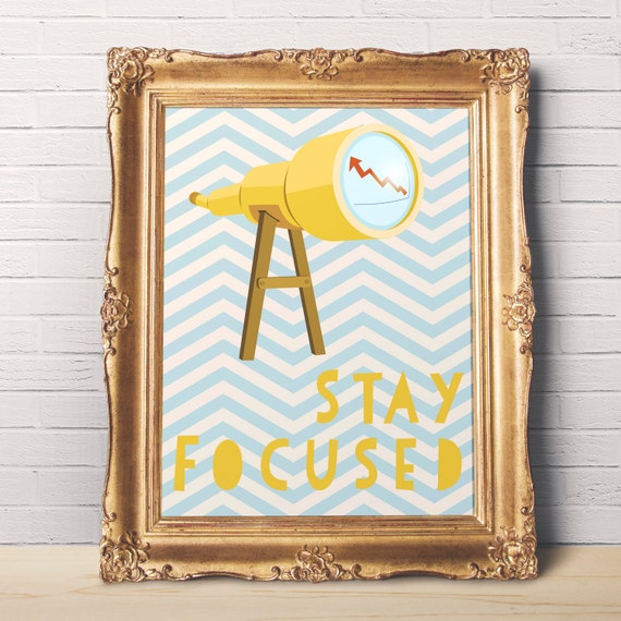 Items Similar To Stay Focused Motivational Wall Art To