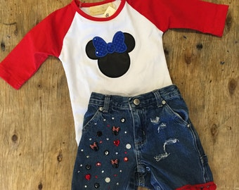Minnie Mouse bling baby shorts