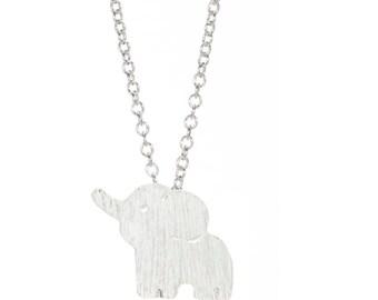 Cute Elephant Dumbo Necklace Minimalist Silver Boho