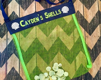Personalized Seashell Shelling Mesh tote bag