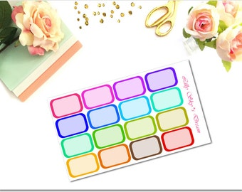 HB01-Rainbow Bold Color Half Boxes