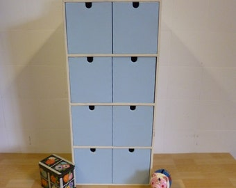 Small wood cabinet with drawers chalk painted