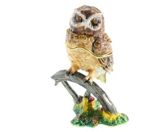 OWL as a jewellery casket pills box jewelry box collectible decoration box new