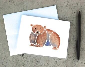 Geometric Bear Card