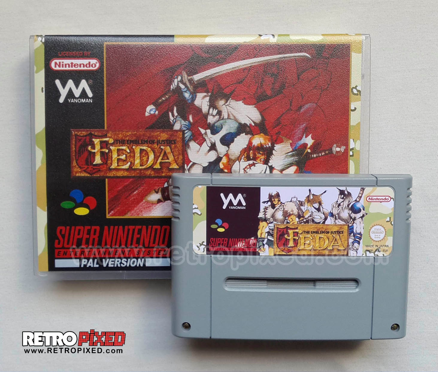 FEDA Emblem of Justice - PAL (SNES Reproduction) (English ...