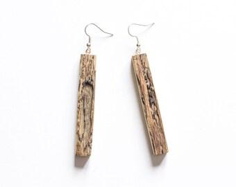 Modern Wooden Earrings,Driftwood Earrings, Wood Earrings, Weightless Earrings, Unique Design Earrings, Stylish Earrings,Geometric earrings