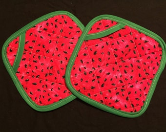 Watermelon Pot Holders - set of two