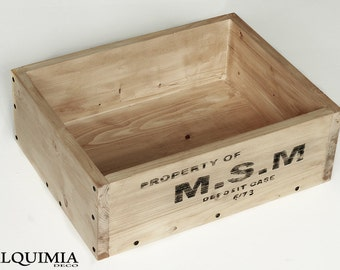 Industrial wooden box