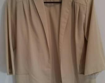 Vintage 1970s Beige Jacket