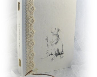 "Box book shabby ""Bookworm"""