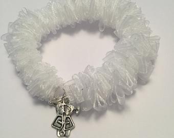 White organza bracelet