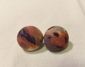 Small Flame  Button Earrings