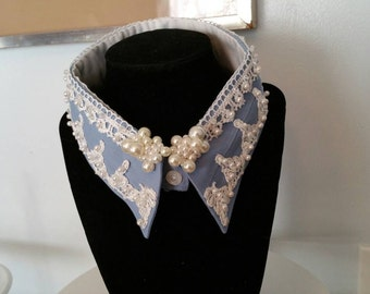 Recycled men's shirt collar necklace